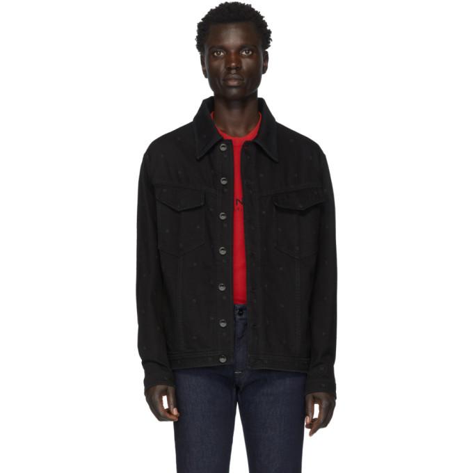 Photo: Fendi Black Denim FF Jacket