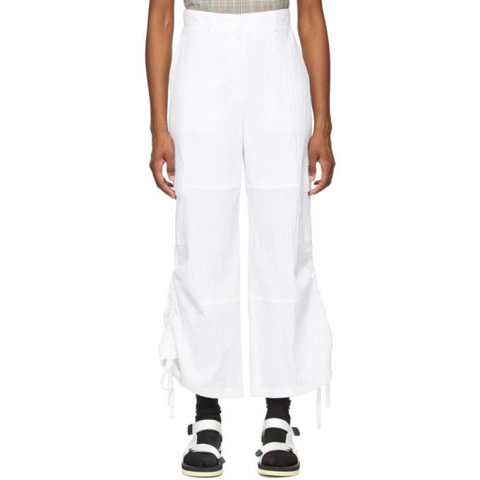 Photo: SJYP White Drawstring Side Trousers