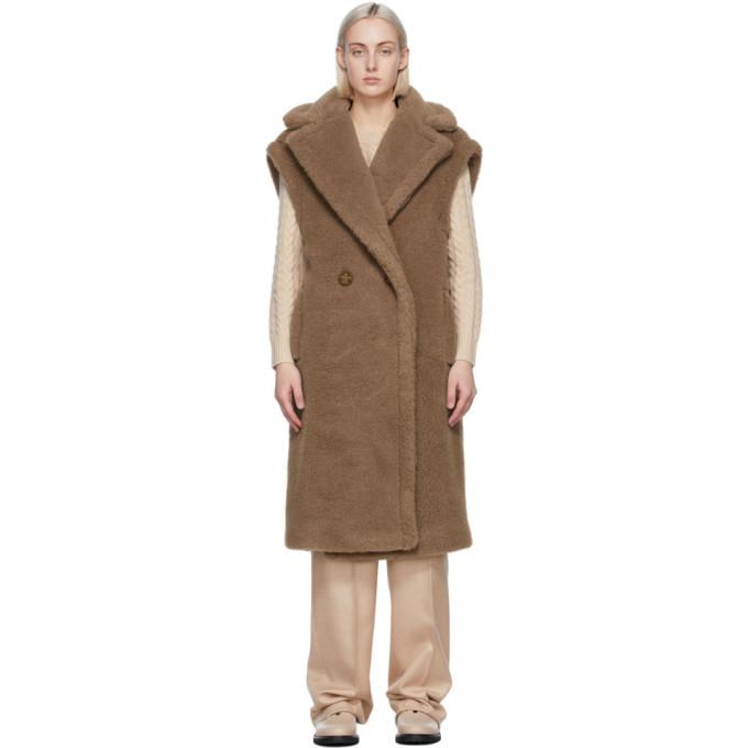 Photo: Max Mara Tan Wool and Silk Alce Vest