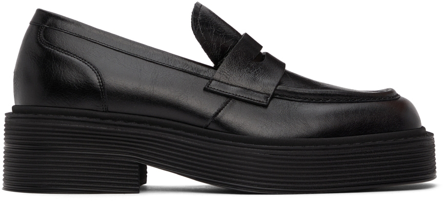 Photo: Marni Black Leather Penny Loafers