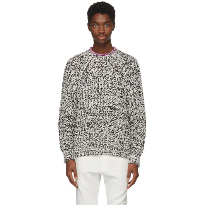 Photo: Isabel Marant White and Black Qenji Arty Knit Sweater