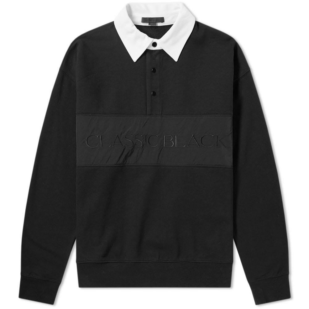 Photo: Alexander Wang Long Sleeve Vintage Fleece Polo Black
