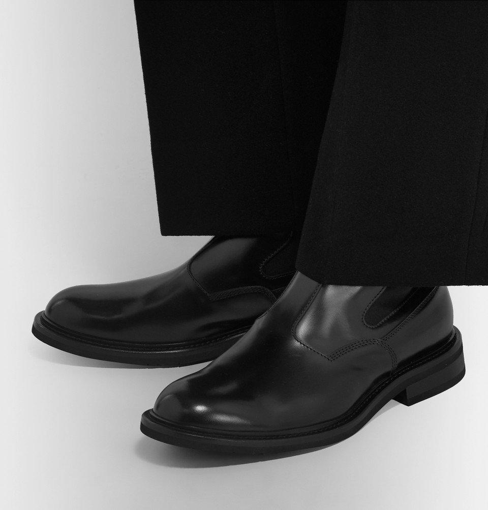 Bottega Veneta - Leather Chelsea Boots - Black