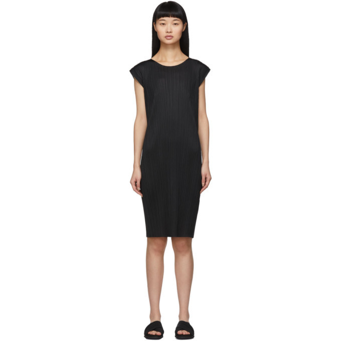 Photo: Pleats Please Issey Miyake Black Basics Pleats Short Dress