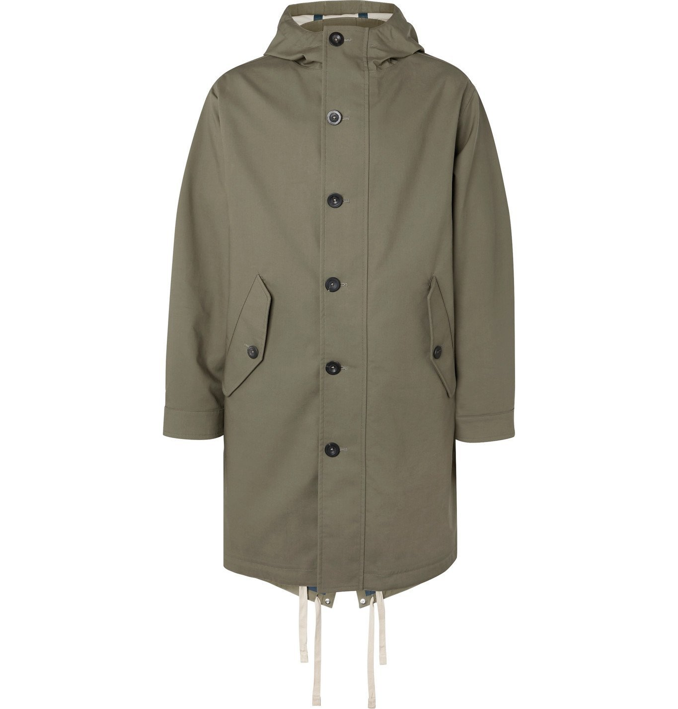 Photo: Mr P. - Bonded-Cotton Hooded Parka - Green