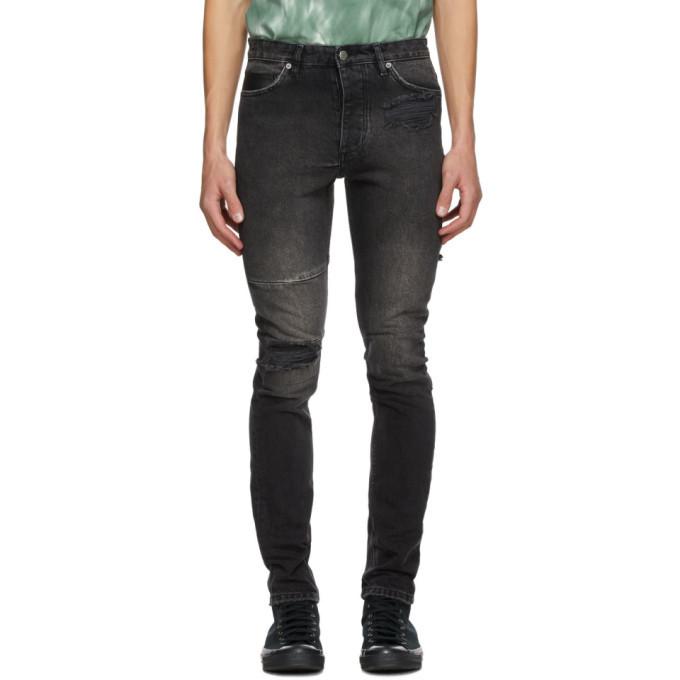 Ksubi Black Chitch Throwblack Biker Jeans