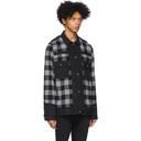 Sacai Black and Grey Panelled Denim Jacket