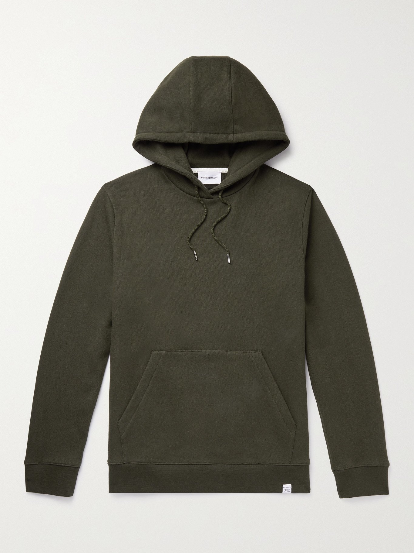 Photo: Norse Projects - Vagn Loopback Cotton-Jersey Hoodie - Green