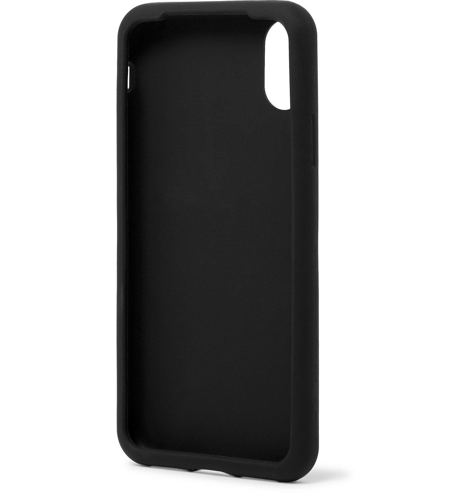 Dolce & Gabbana - Logo-Print Rubber iPhone X and XS Case - Black