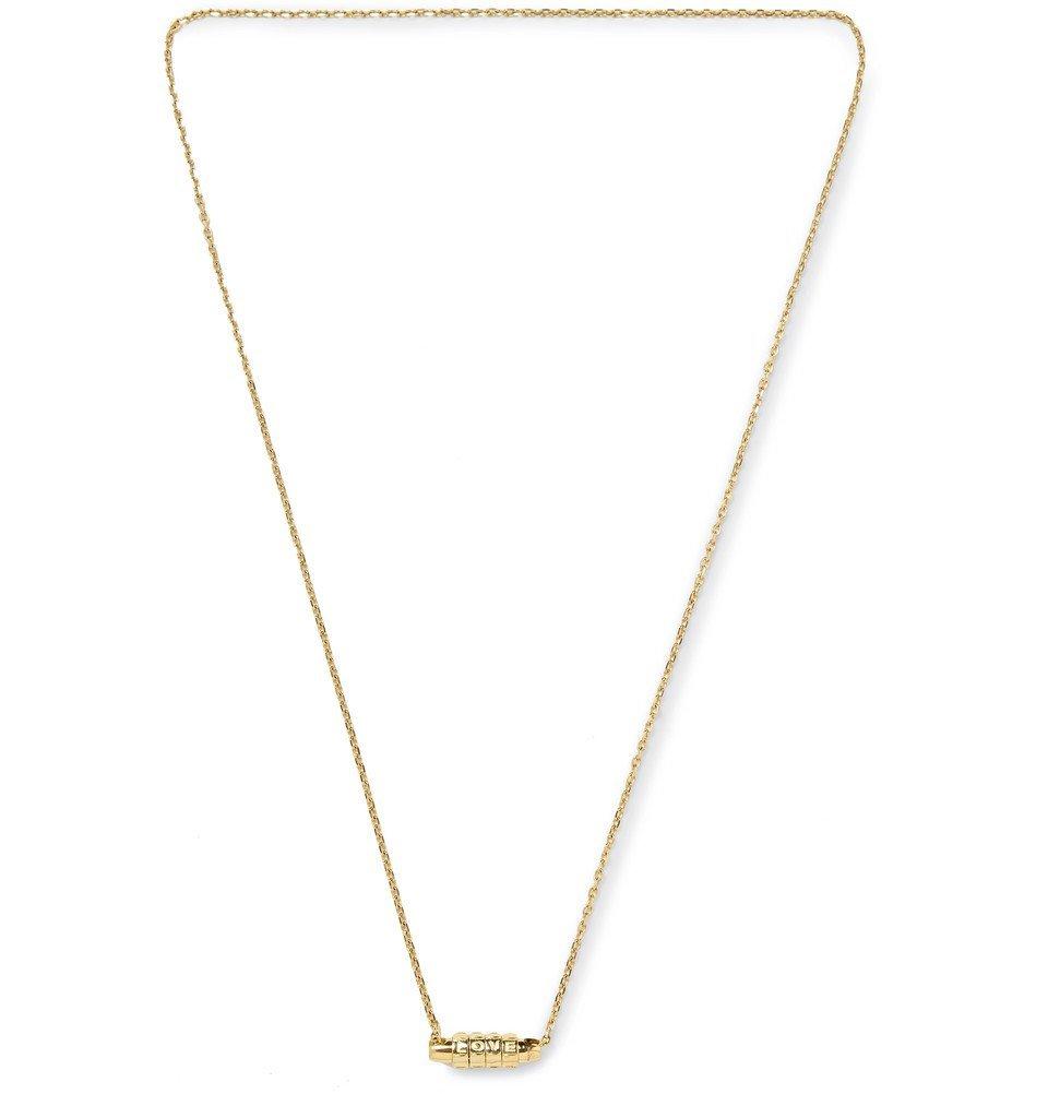 Photo: Luis Morais - Love Lock Gold Necklace - Gold