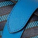 Smythson - Striped Leather Watch Roll - Blue