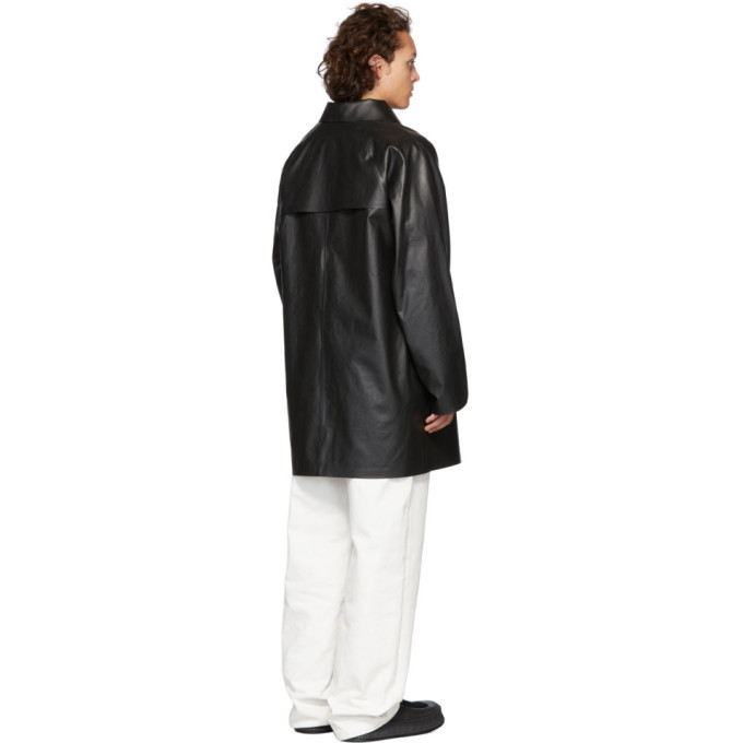 Kassl Editions Black Above The Knee Oil Coat