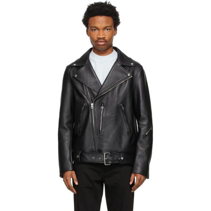 Photo: Acne Studios Black Leather Biker Jacket