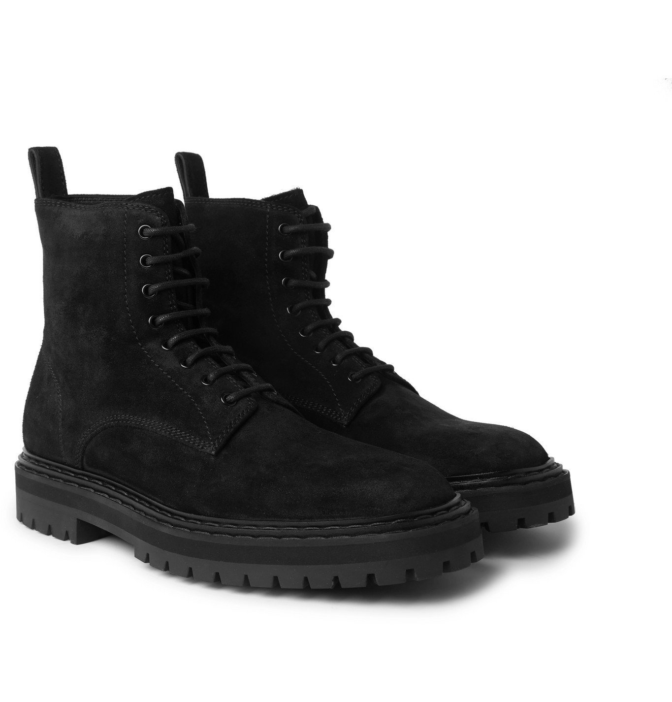 Photo: Officine Creative - Pistols Suede Lace-Up Boots - Black