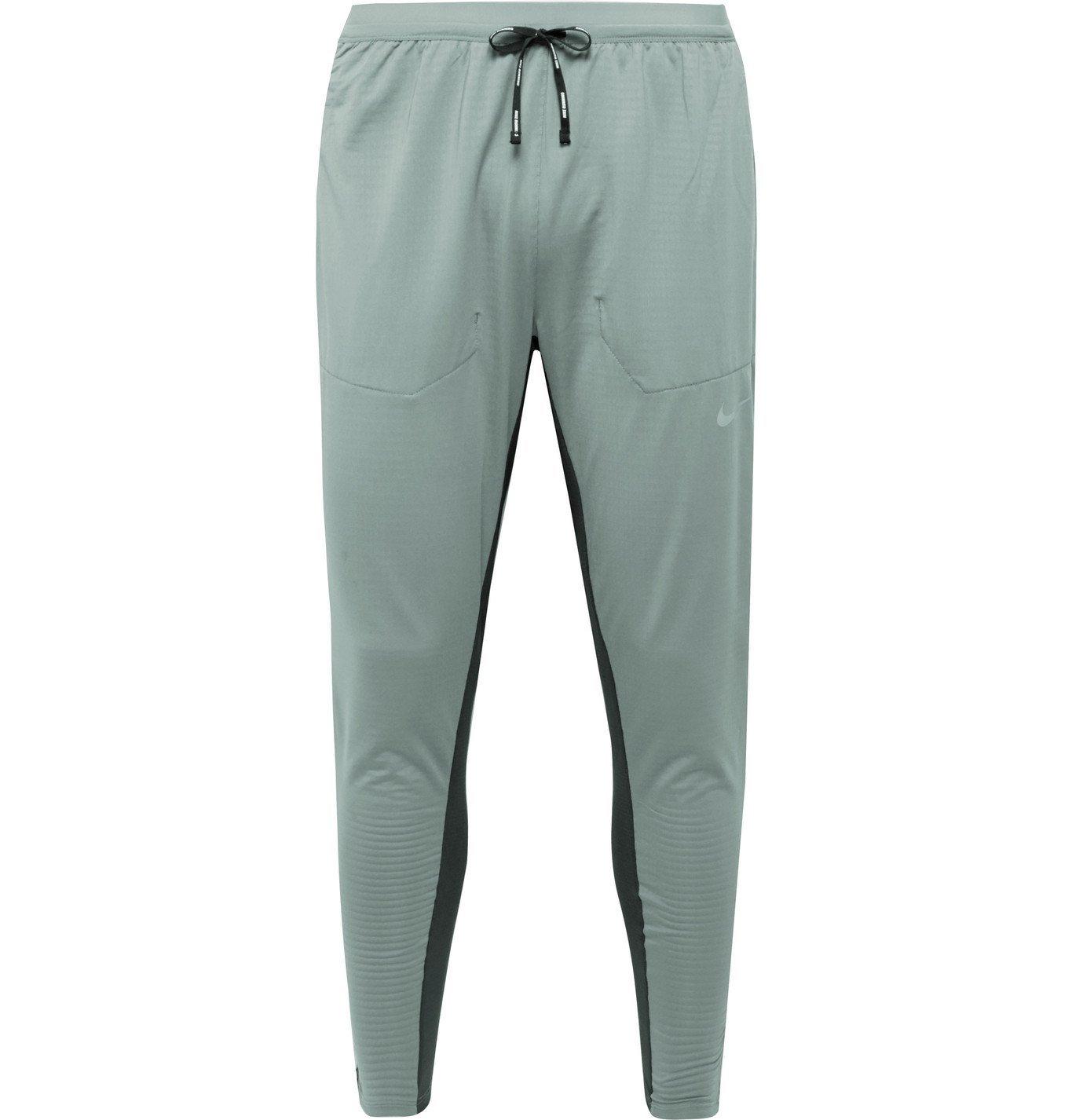 Nike Running - Phenom Elite Slim-Fit Tapered Mesh-Panelled Stretch-Jersey Sweatpants - Gray