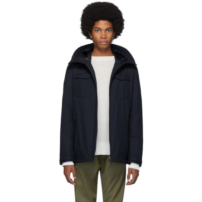 Photo: Herno Navy Tech Lamiar Jacket