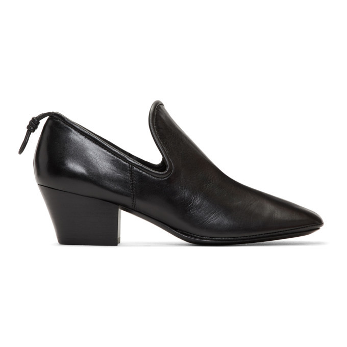Photo: Lemaire Black Soft Loafer Heels
