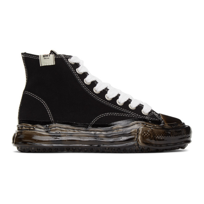 Photo: Miharayasuhiro Black Original Sole Dip High-Top Sneakers