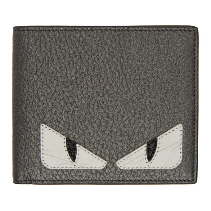 Photo: Fendi Grey and White Bag Bugs Bifold Wallet