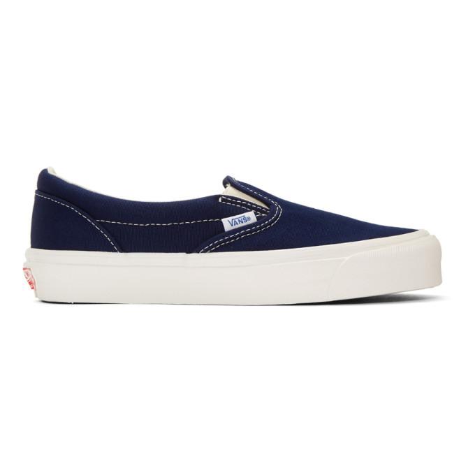 Photo: Vans Blue OG Classic Slip-On Sneakers