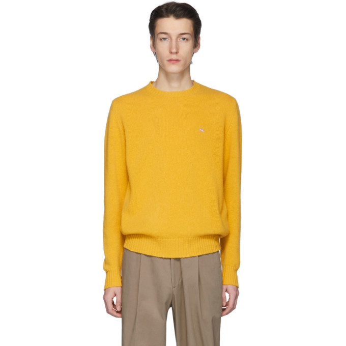 Photo: Etro Yellow Wool Crewneck Sweater