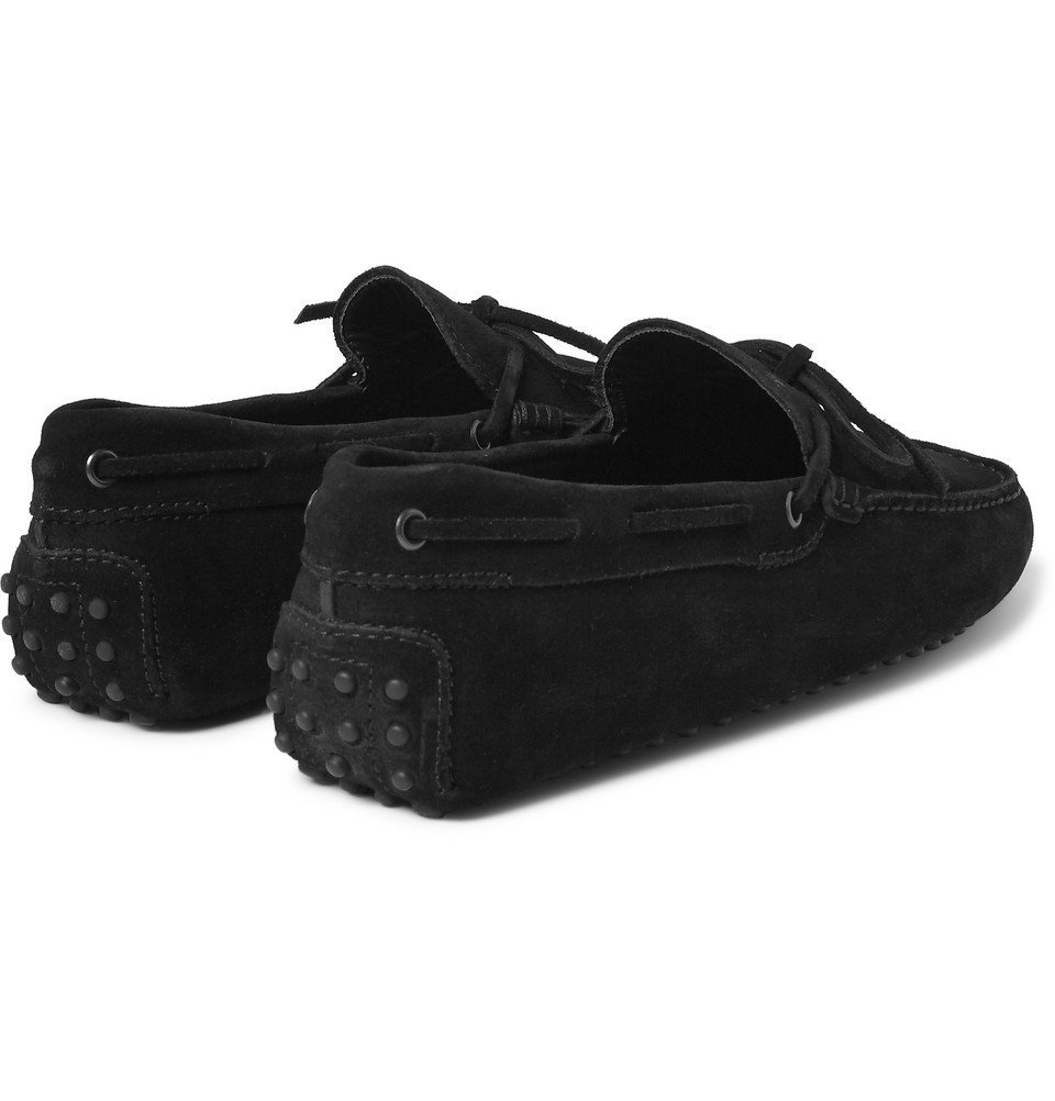 Tod's - Gommino Suede Driving Shoes - Men - Black