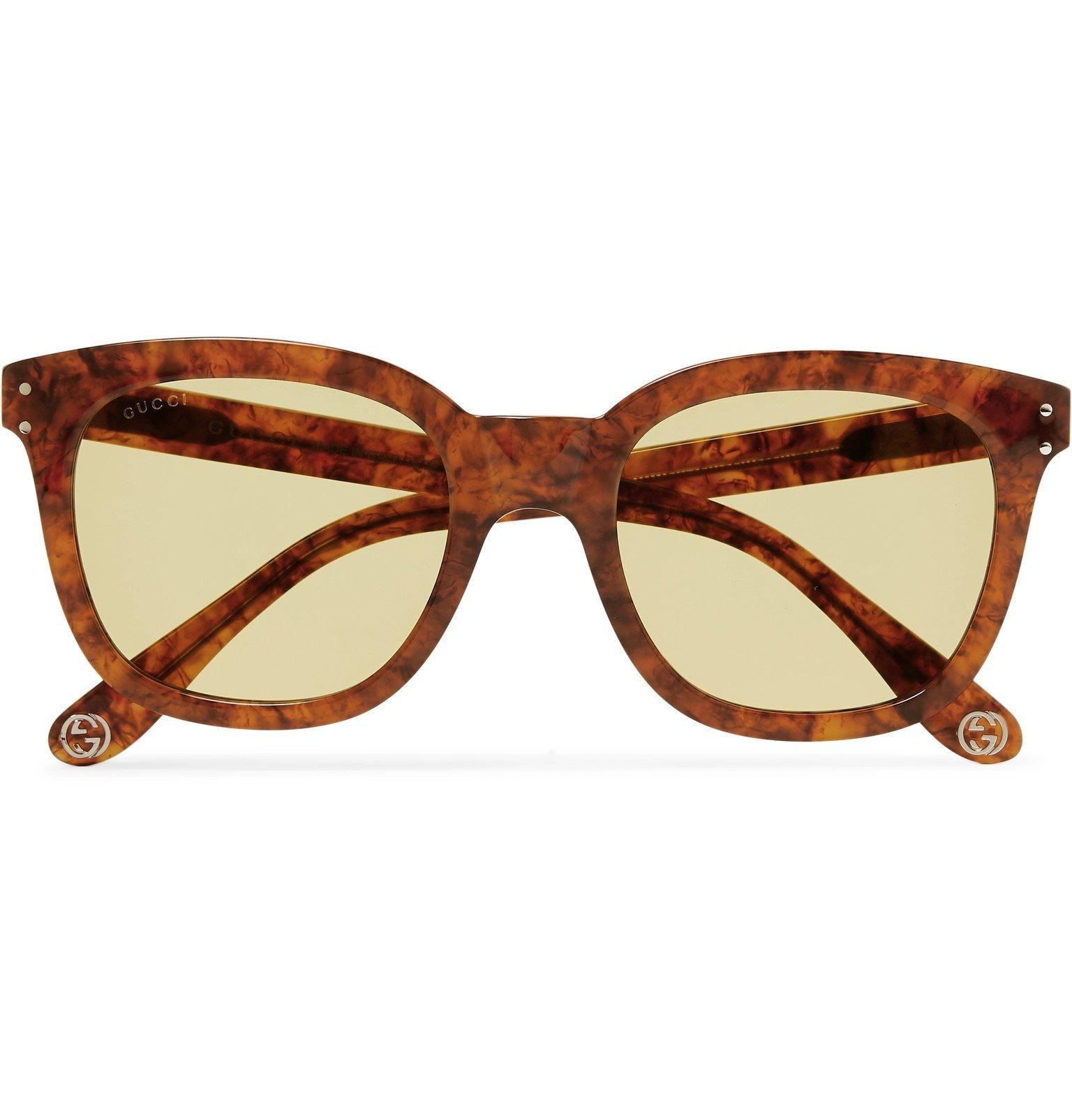 Photo: Gucci - Square-Frame Acetate Sunglasses - Tortoiseshell