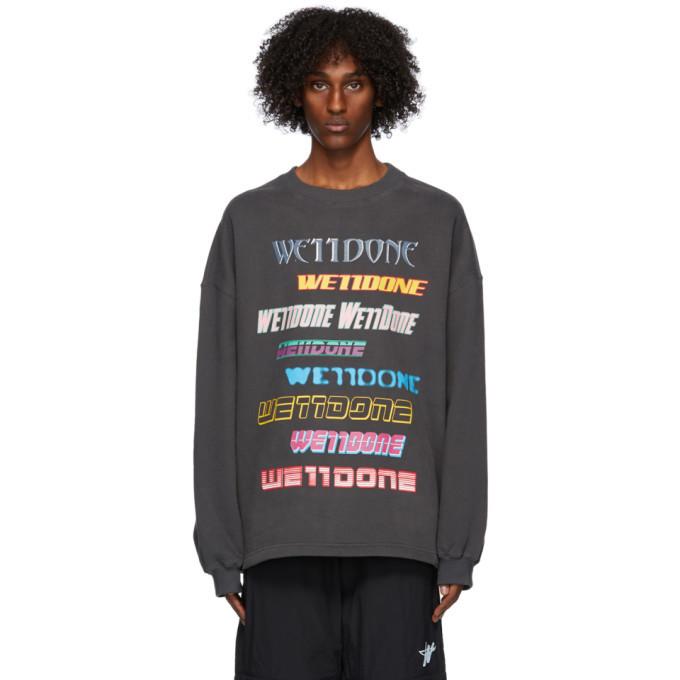 Photo: We11done Grey Fleece Logo Sweatshirt