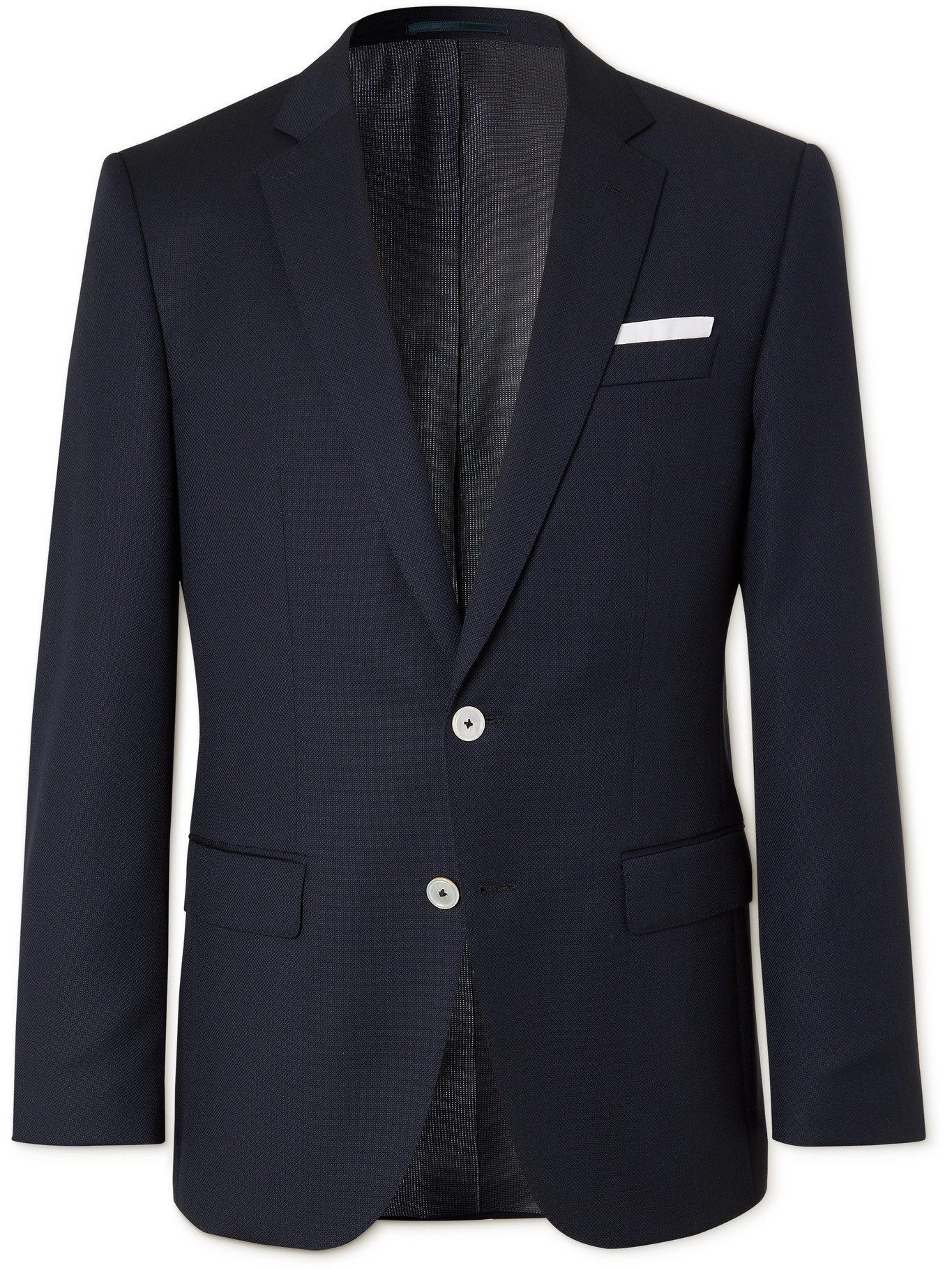 HUGO BOSS - Slim-Fit Virgin Wool Blazer - Blue