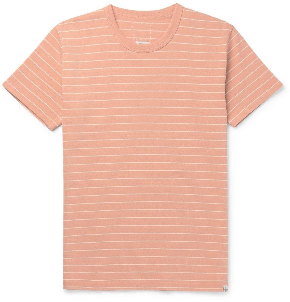 Photo: visvim - Slim-Fit Striped Cotton-Jersey T-Shirt - Coral