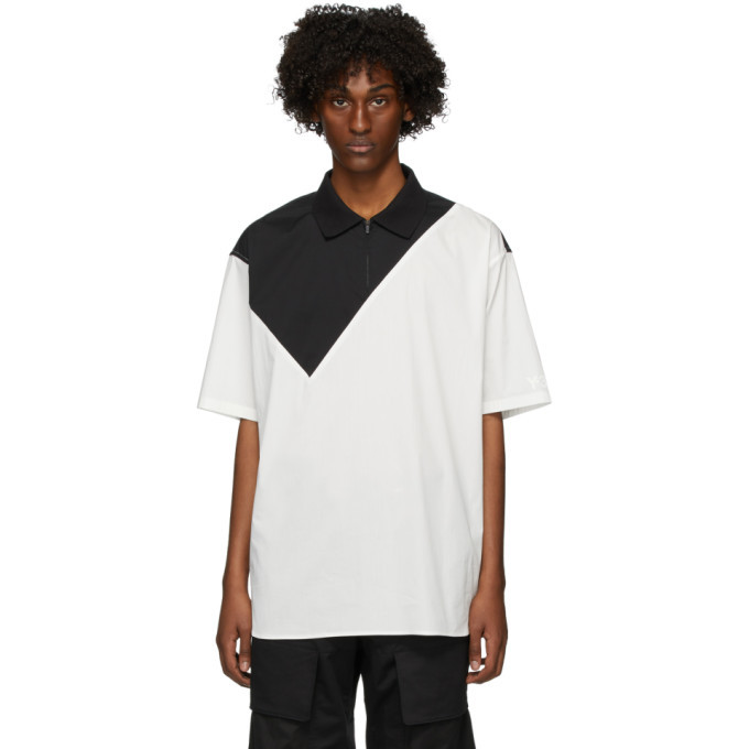 Photo: Y-3 Black and White Poplin Polo