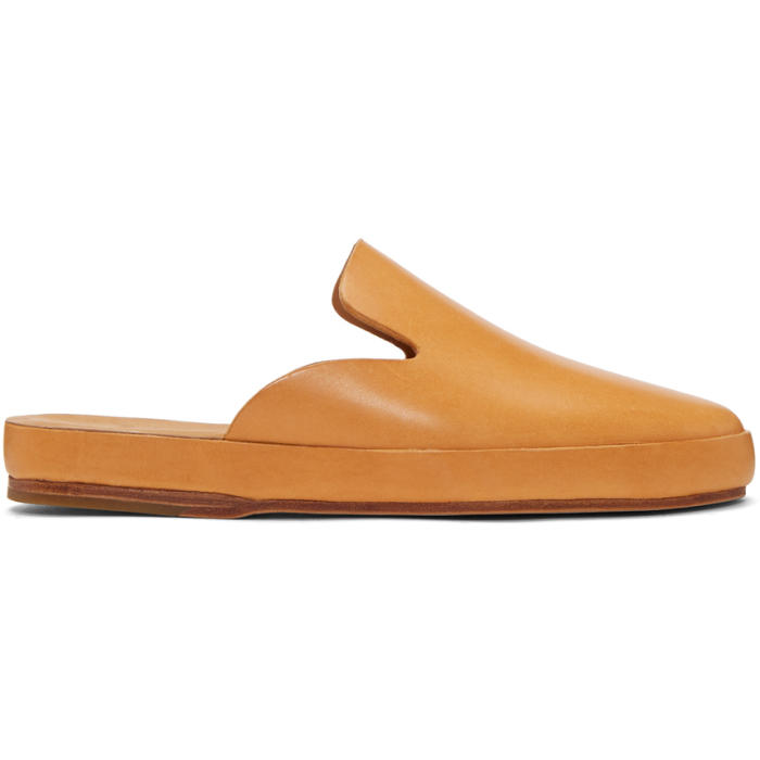 Photo: Feit Tan Hand Sewn Slide Loafers