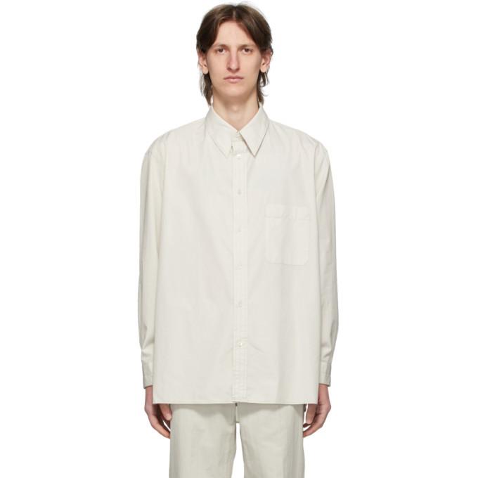 Photo: Lemaire Grey Straight Collar Shirt