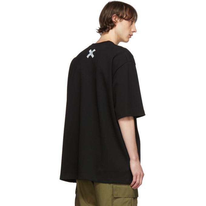 Maison Kitsune Black ADER Error Edition Bitmap Fox T-Shirt