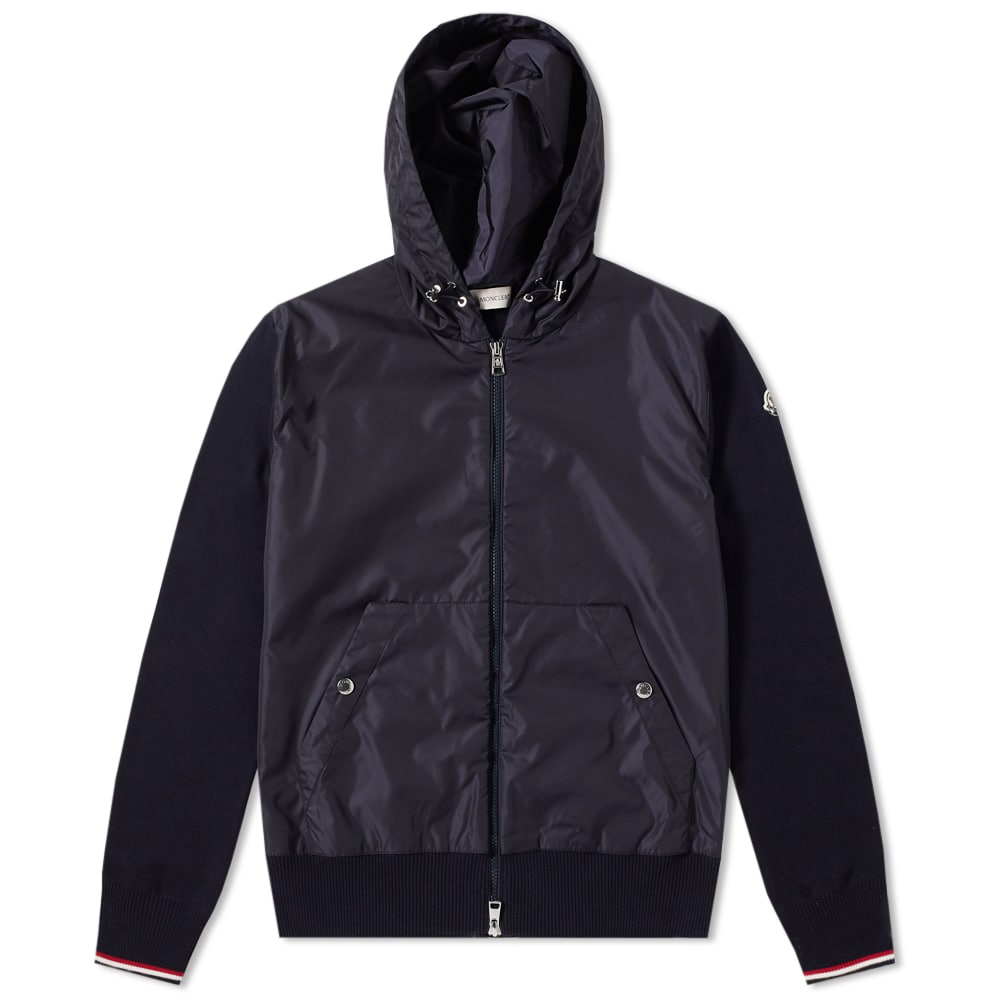 Photo: Moncler Nylon Front Zip Hooded Knit