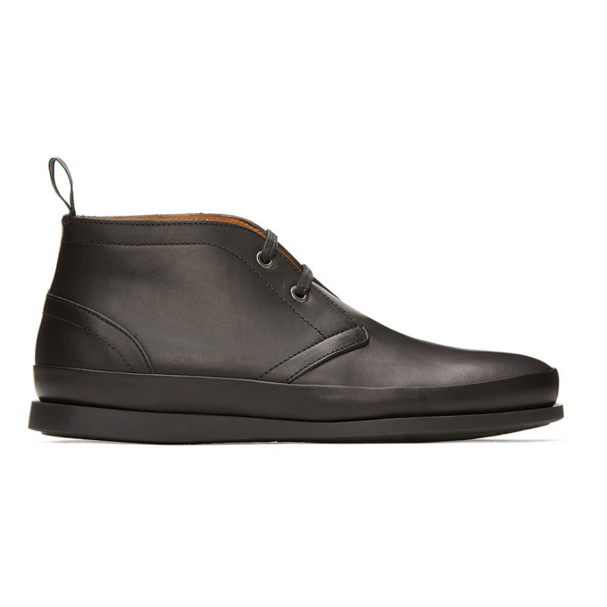 Photo: PS by Paul Smith Black Cleon Desert Boots