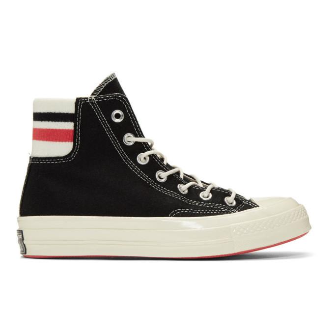 Photo: Converse Black Wool Knit Back Chuck 70 High Sneakers