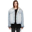 Ksubi Blue Denim OH G Borg Chillz Jacket