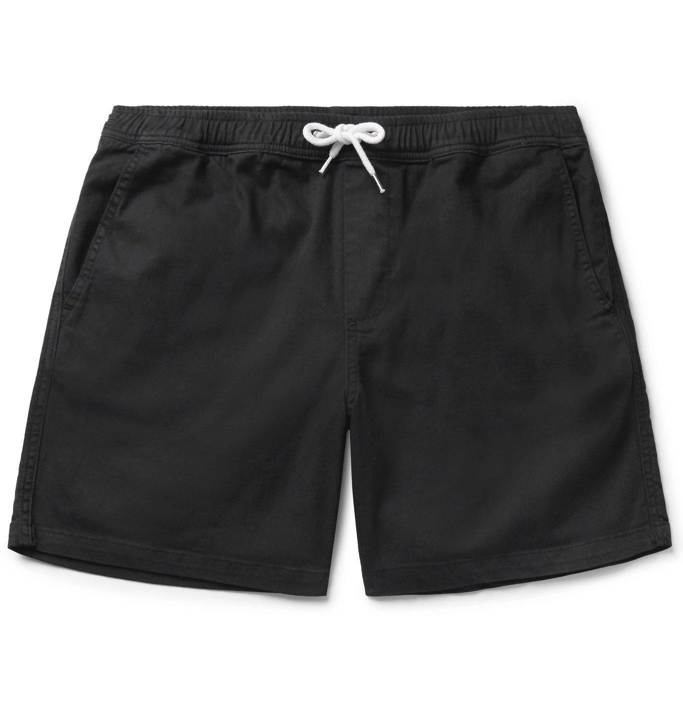 Photo: NN07 - Gregor Stretch-Cotton Twill Drawstring Shorts - Black