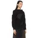 Sacai Black Hank Willis Thomas Edition Mix Knit Pullover Sweater