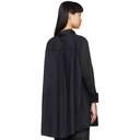 Sacai Navy and Black Shirt Dress