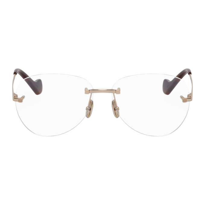 Photo: Loewe Rose Gold and Tortoiseshell Round Glasses