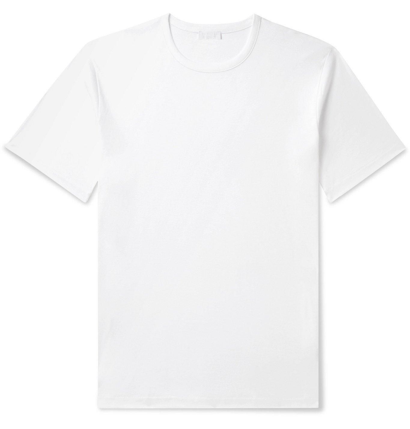 Sunspel - Sea Island Cotton-Jersey T-Shirt - White