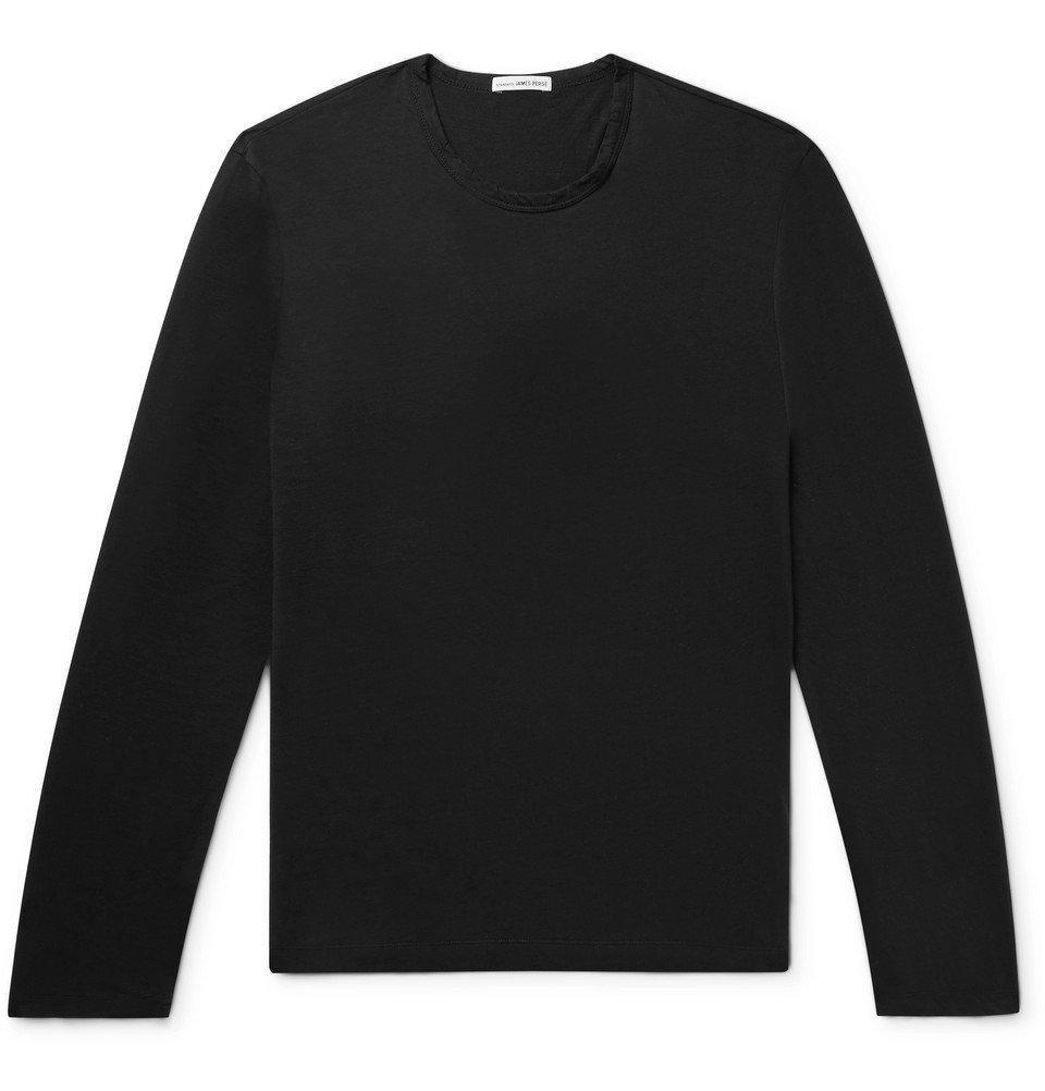 Photo: James Perse - Cotton and Cashmere-Blend T-Shirt - Black