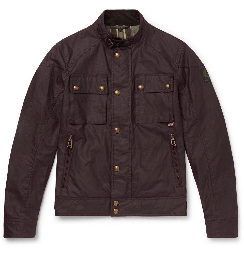 Belstaff - Racemaster Slim-Fit Waxed-Cotton Jacket - Burgundy
