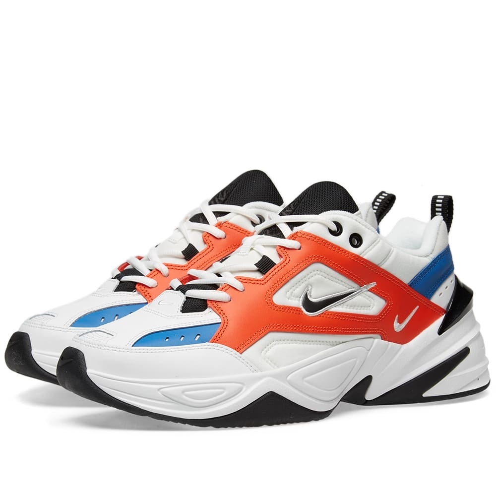 Nike M2K Tekno White, Black, Orange & Blue