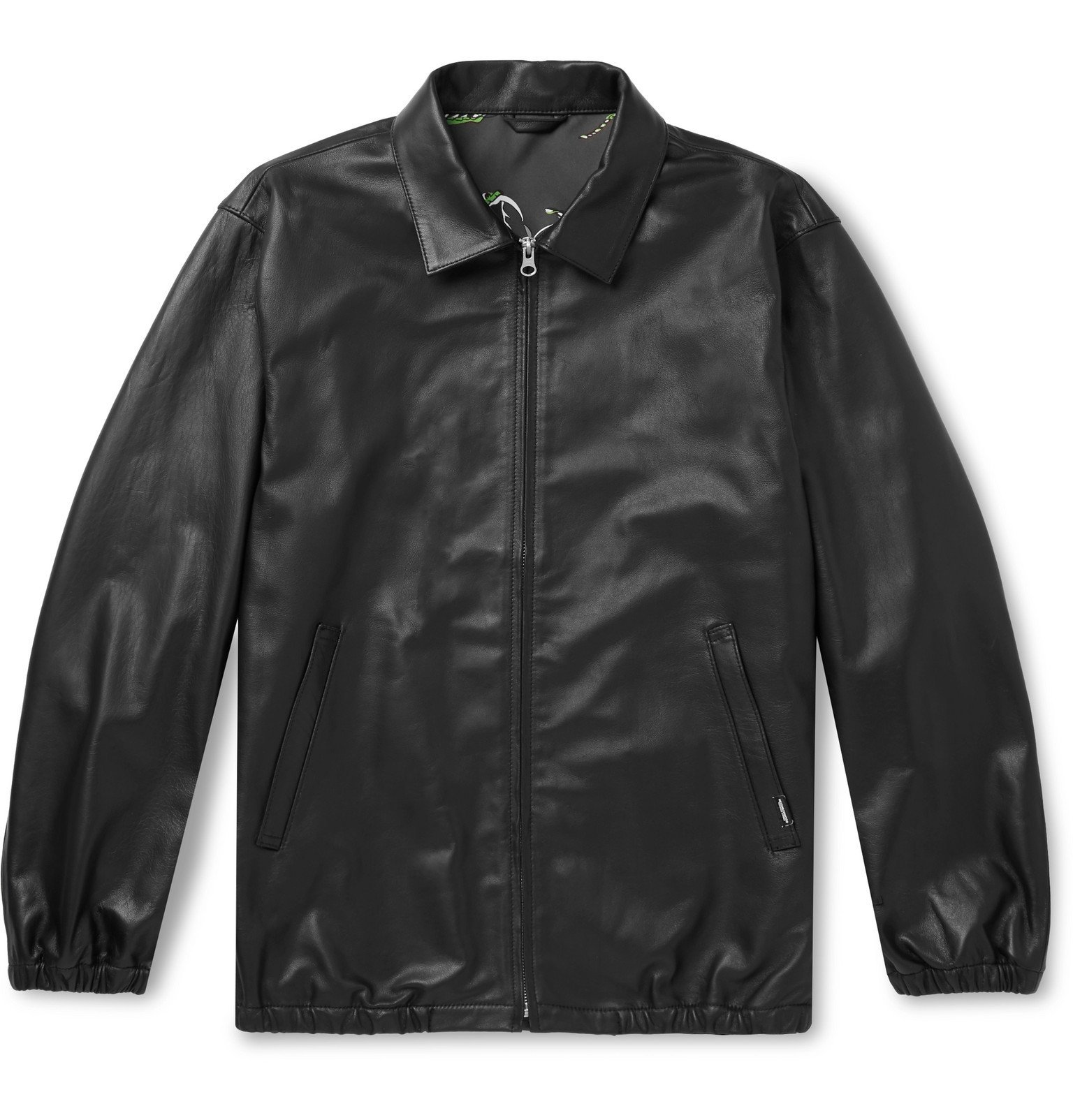 Photo: Neighborhood - Leather Blouson Jacket - Black