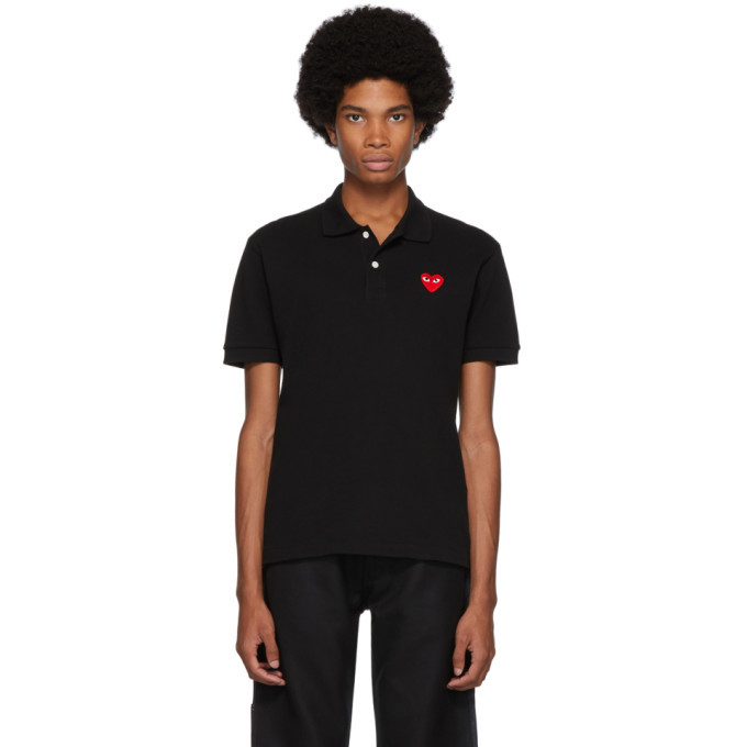 Photo: Comme des Garcons Play Black Heart Patch Polo