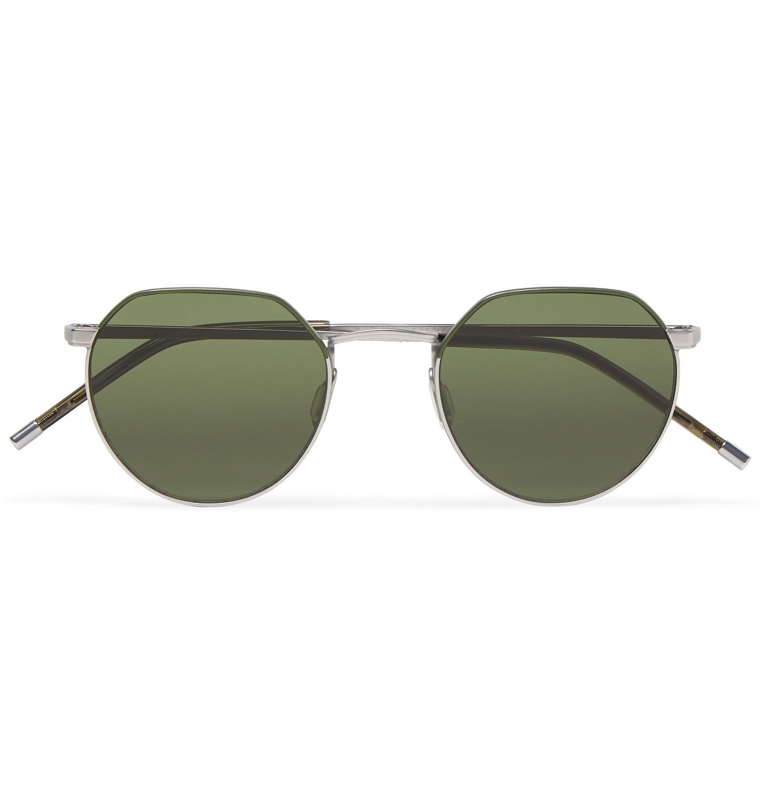Photo: Dick Moby - Agadir Round-Frame Silver-Tone Sunglasses - Silver
