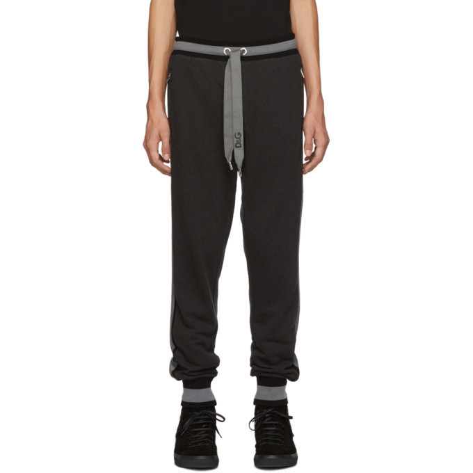 Photo: Dolce and Gabbana Black and Grey Striped Lounge Pants